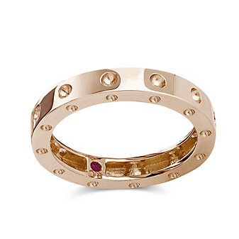 Roberto Coin 18K Rose Gold Pois Moi Ring