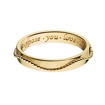 Monica Rich Kosann 18K Yellow Gold Beaded Poesy Ring