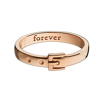 Monica Rich Kosann 18K Rose Gold Buckle Poesy Ring Pendant