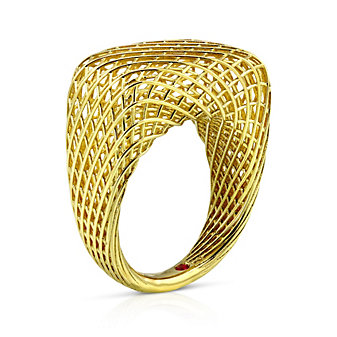 Roberto Coin 18K Yellow Gold Silk Rectangular Ring