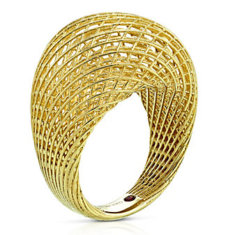 Roberto Coin 18K Yellow Gold Silk Domed Ring