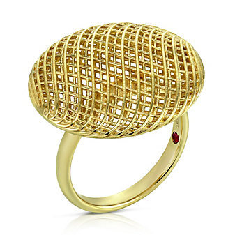 Roberto Coin 18K Yellow Gold Silk Circular Ring