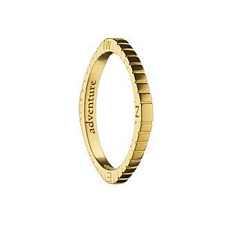 "Monica Rich Kosann 18K Yellow Gold ""Adventure"" Compass Poesy Ring"