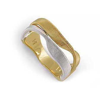 Marco Bicego 18K White & Yellow Gold Two Row Marrakech Ring