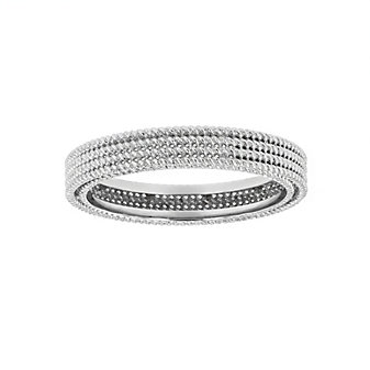 roberto coin 18k white gold braided symphony barocco ring