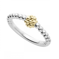 Lagos_Sterling_Silver_and_18K_Yellow_Gold_Caviar_Ball_Stack_Ring,_Size_7