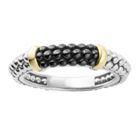 Lagos_Sterling_Silver_and_18K_Yellow_Gold_Black_Ceramic_Caviar_Tapered_Stacking_Ring