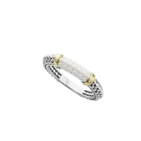 Lagos_Sterling_Silver_&_18K_Yellow_Gold_White_Caviar_Stacking_Ring