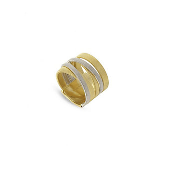 marco bicego 18k yellow & white gold 5 row masai ring