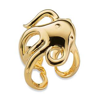 monica rich kosann 18k gold intuition octopus ring - size 7.5