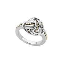 lagos_sterling_silver_&_18k_yellow_gold_torsade_knot_ring,_size_7