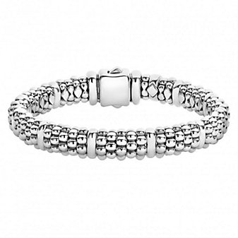 Lagos Sterling Silver Signature Caviar Beaded Bracelet