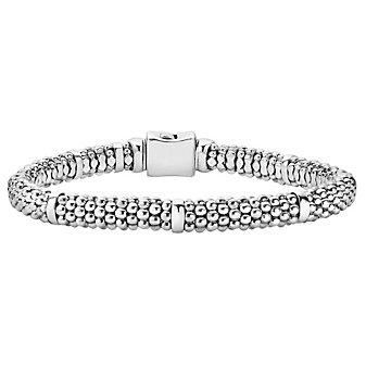 Lagos Sterling Silver Signature Caviar Petite Beaded Bracelet
