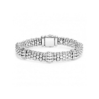 Lagos_Sterling_Silver_Signature_Caviar_Fluted_Beaded_Bracelet