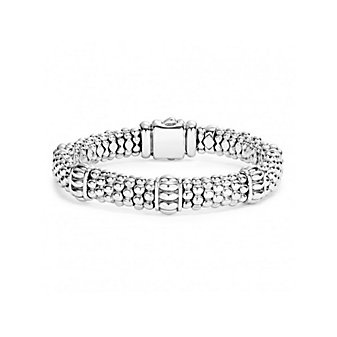 Lagos Sterling Silver Signature Caviar Fluted Beaded Bracelet