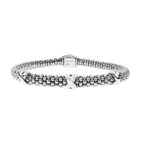 Lagos_Sterling_Silver_Signature_Caviar_Beaded_X_Bracelet