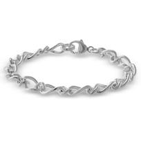 """Sterling_Silver_Figaro_Link_Bracelet,_7"""""""