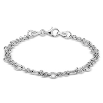 "Sterling_Silver_Circles_Bracelet,_7.25"""