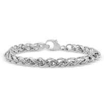 Sterling_Silver_Ridged_Wheat_Bracelet,_8""