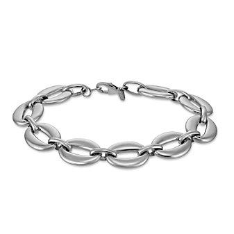 Sterling Silver Small Oval Link Bracelet