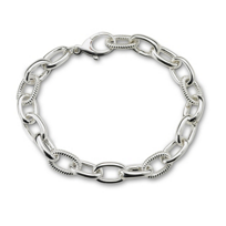 "Monica_Rich_Kosann_Sterling_Silver_Braided_Link_Charm_Bracelet,_7_1/2"""
