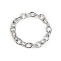 Monica_Rich_Kosann_Sterling_Silver_Heavy_Smooth_Link_Charm_Bracelet,_7_1/2""