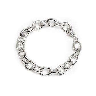 "Monica Rich Kosann Sterling Silver Heavy Smooth Link Charm Bracelet, 7 1/2"""