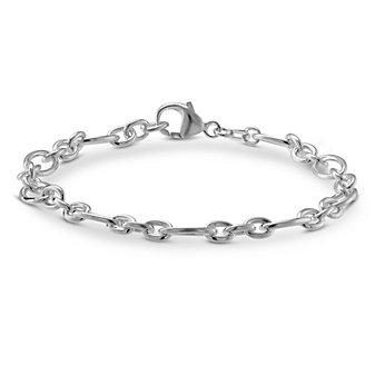 Sterling Silver Figaro Baroque Link Bracelet