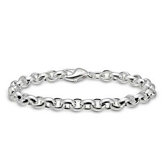 Sterling Silver Oval Cable Link Bracelet