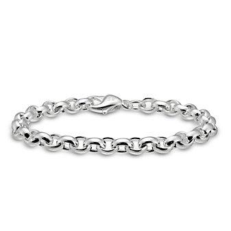 Sterling Silver Oval Cable Link Bracelet