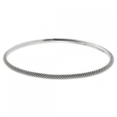 Lagos Sterling Silver Caviar Medium Bangle Bracelet