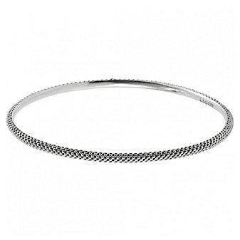 Lagos Sterling Silver Caviar Medium Bangle Bracelet