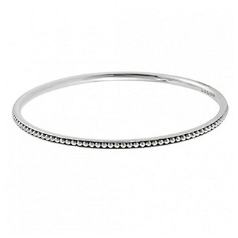 Lagos Sterling Silver Beaded Medium Bangle Bracelet