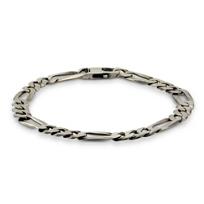 """Sterling_Silver_Flat_Curb_Link_Bracelet,_9"""""""