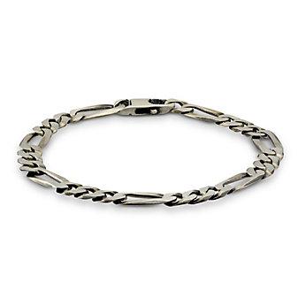 """Sterling Silver Flat Curb Link Bracelet, 9"""""""