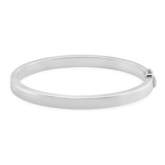 Sterling Silver Square Edge Bangle Bracelet