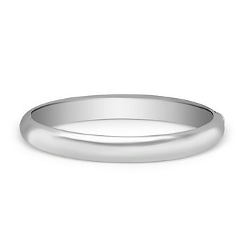 Sterling Silver Dome Bangle Bracelet, 9mm