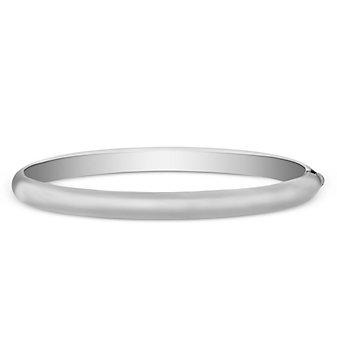 Sterling Silver Domed Bangle Bracelet