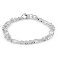 Sterling_Silver_7mm_Curb_Link_Bracelet,_9""