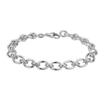 Sterling_Silver_Oval_Cable_Bracelet,_7.5""