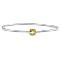Sterling_Silver_&_Yellow_Tone_Knot_Bangle_Bracelet