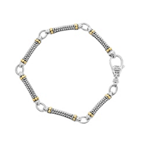 Lagos_Sterling_Silver_&_18K_Yellow_Gold_Caviar_Superfine_Beaded_Link_Bracelet