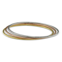 Sterling_Silver,_Yellow_and_Rose_Tone_Bangle_Trio