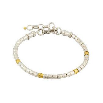 Gurhan Sterling Silver & 24K Overlay Small Vertigo Bracelet