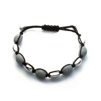 Pesavento_Sterling_Silver_Light_Grey_Dust_Sparkle_10_Bead_Bracelet
