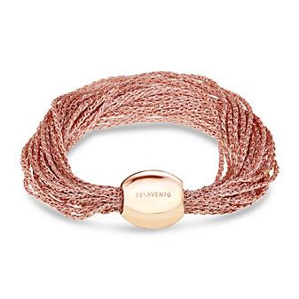 Pesavento DNA Antique Pink Sterling Silver Narrow Multi-Strand Mesh Bracelet