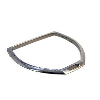 Vincent Peach Sterling Silver Black Rhodium Horse Shoe Shaped Bangle Bracelet