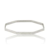 lika_behar_octagon_hammered_sterling_silver_matte_bangle_bracelet