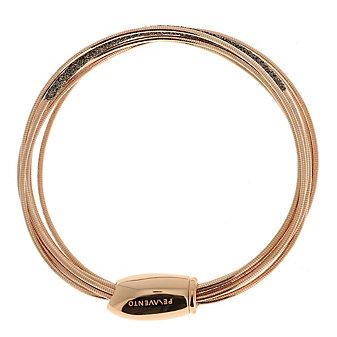 Pesavento Brown Dust Rose-Tone Sterling Silver Bracelet