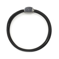 pesavento_sterling_silver_&_ruthenium_3_row_gray_dust_sparkle_bead_&_black_leather_bracelet